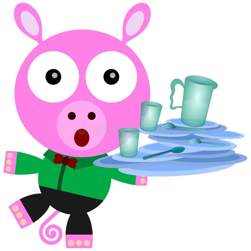 Download Pig balance stock illustration. Image of humorous, humor - 32525463
