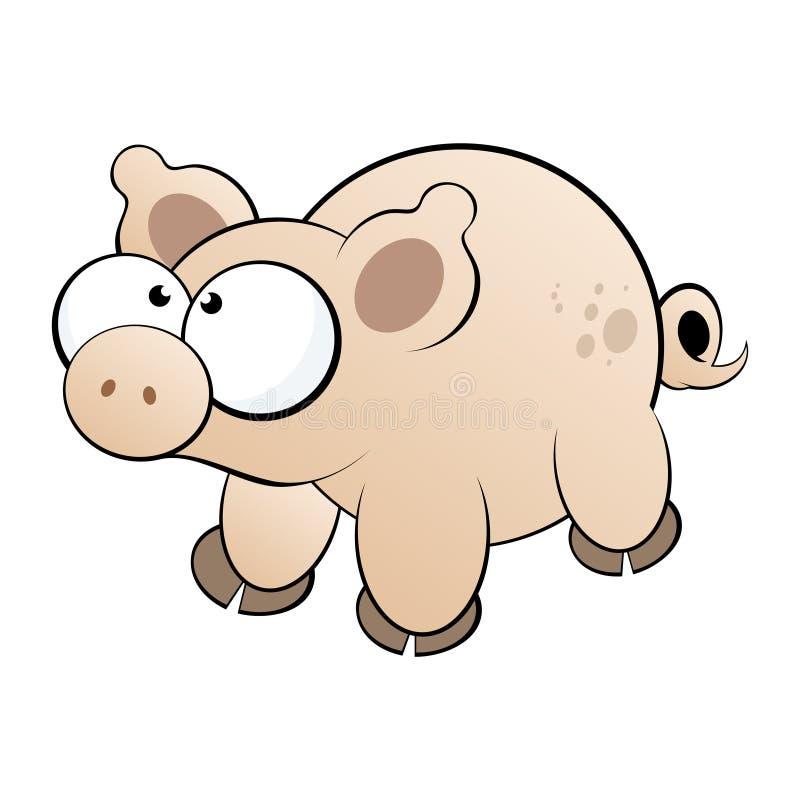 Pig Cartoon Character Stock Photo