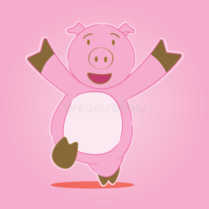 Pig cartoon character stock images