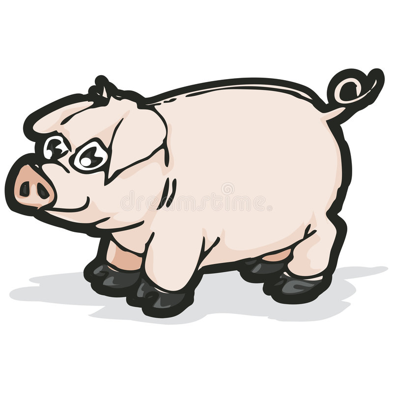 Pig with clipping path. Illustration with clipping path vector illustration