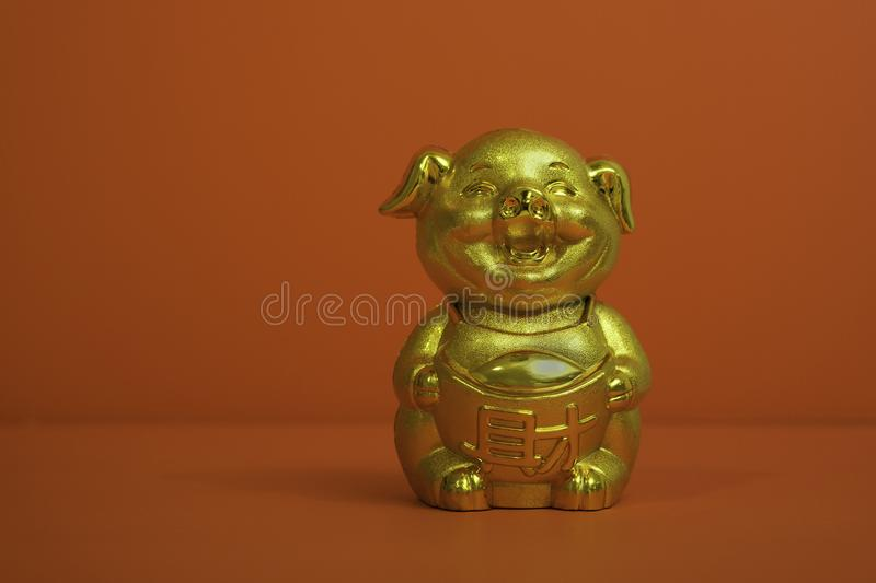 Pig Coin Bank for Chinese New Year royalty free stock photos