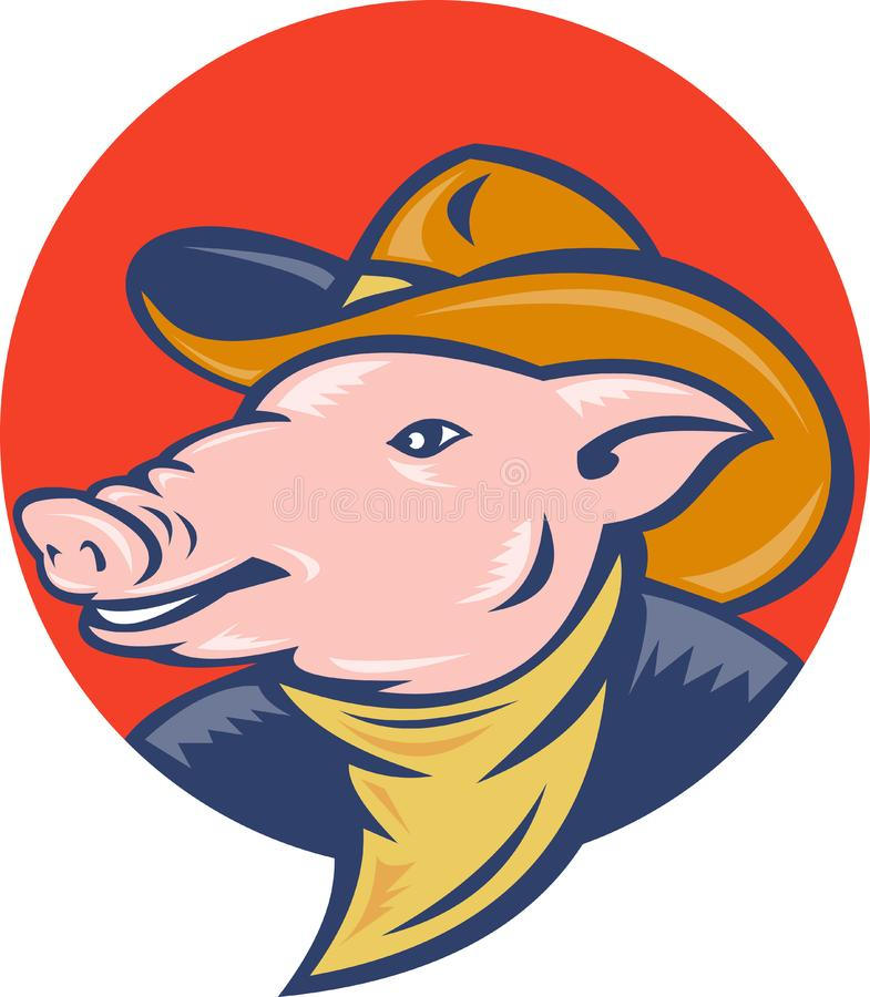 Pig cowboy hat and bandanna