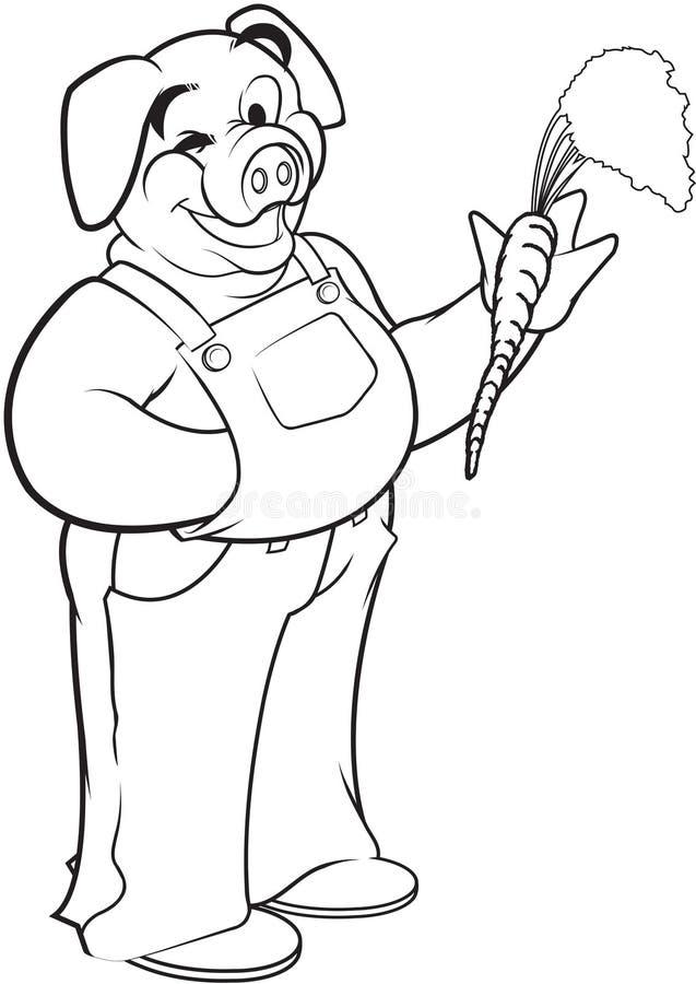 Pig För Morotbondeholding Arkivbilder