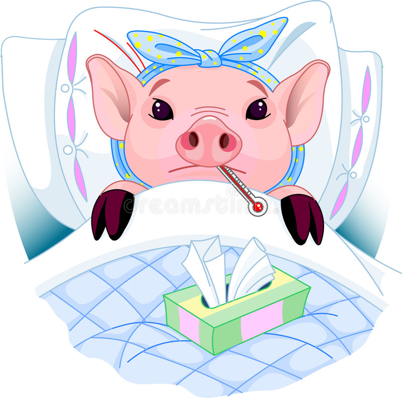 Download Pig Flu stock vector. Illustration of cold, domestic, sneezing - 9252217