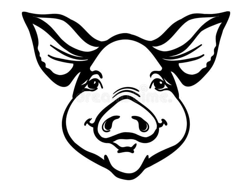 Pig Black White Stock Illustrations 10 370 Pig Black White Stock Illustrations Vectors Clipart Dreamstime