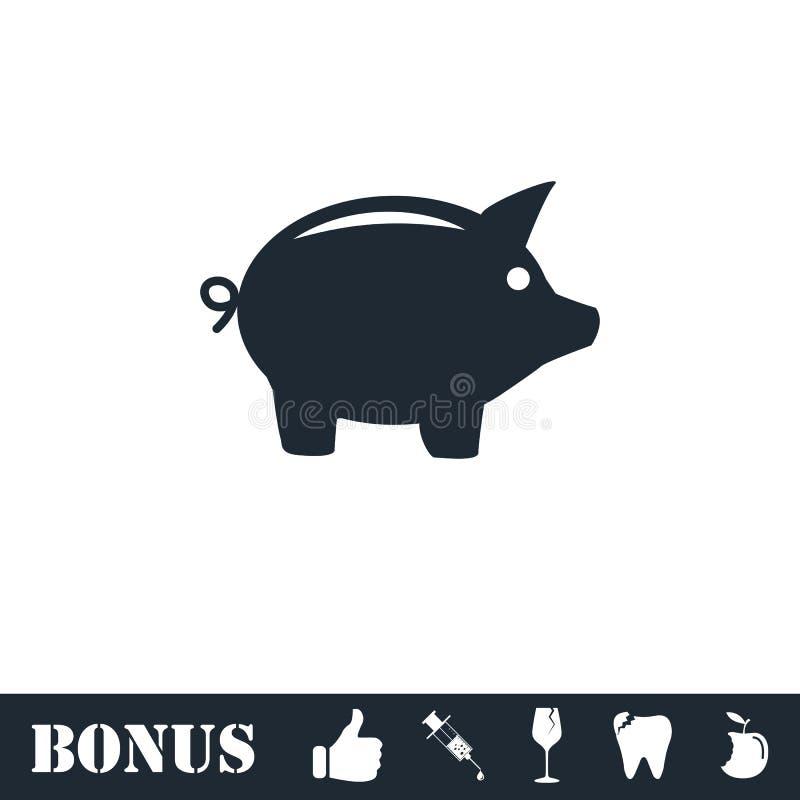 Pig icon flat vector illustration