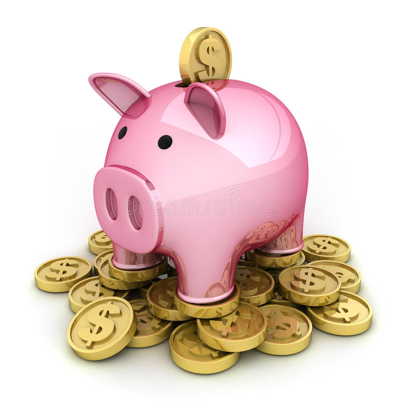 Download Pig and money stock illustration. Image of investment - 20899609