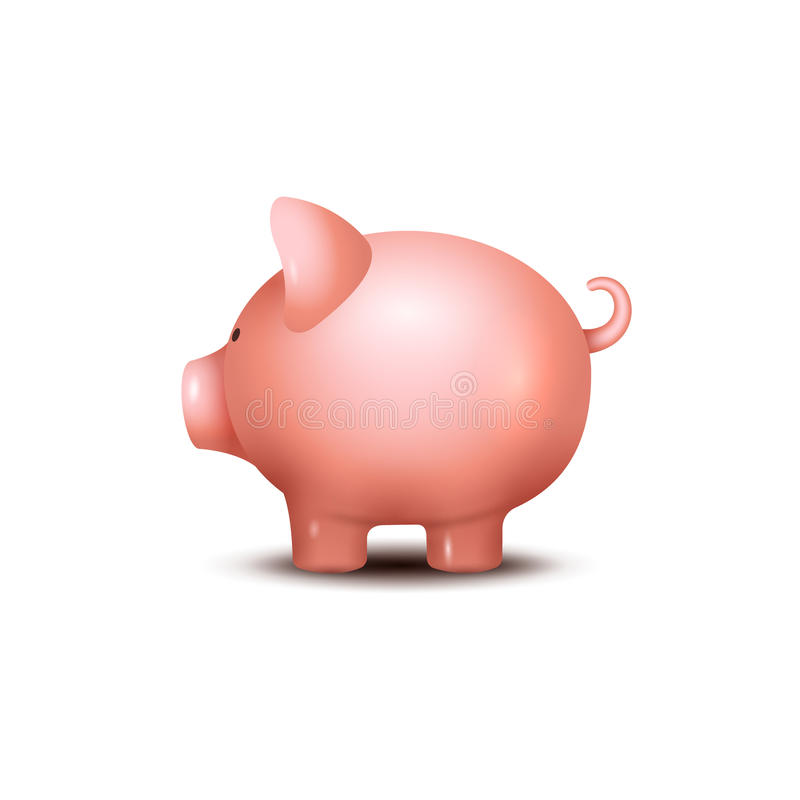 Free Pig Money Box. Piggy Money Save Bank Icon. Pig Toy For Coins Saving Box Concept. Wealth Deposit Stock Photography - 93372612