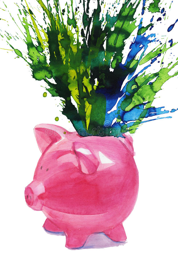 Download Pig moneybox stock illustration. Image of power, cost - 21759143
