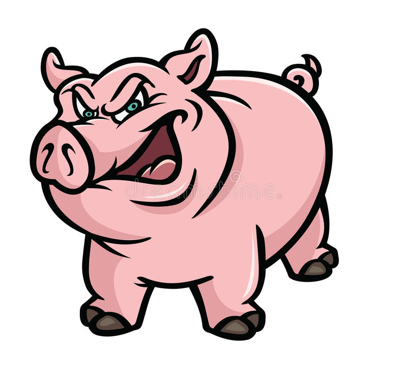 Pig Pink Sneer Stock Photography