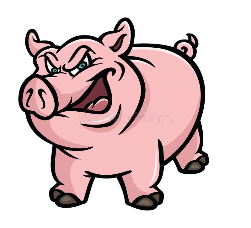 Pig pink sneer royalty free illustration