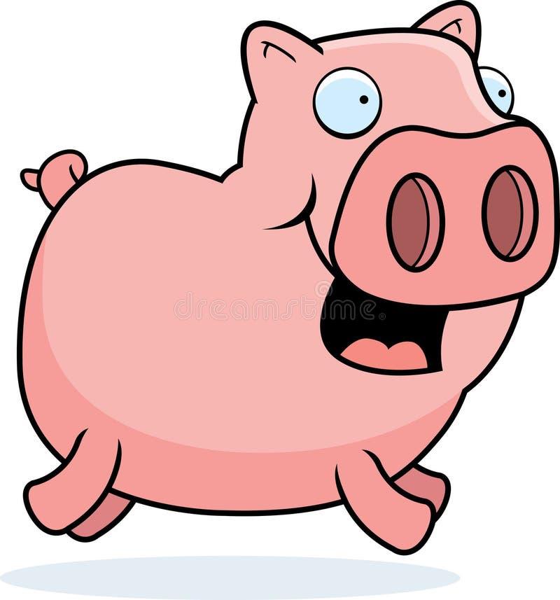 Download Pig Running stock vector. Illustration of pink, illustration - 9867695