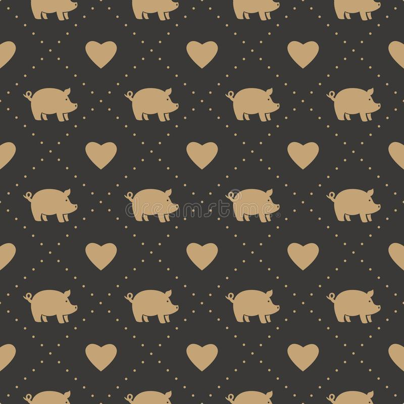 Pig seamless patern. This is pig seamless patern design vector illustration