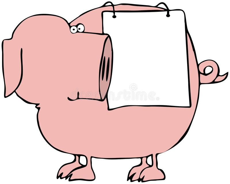 Pig Sign royalty free illustration