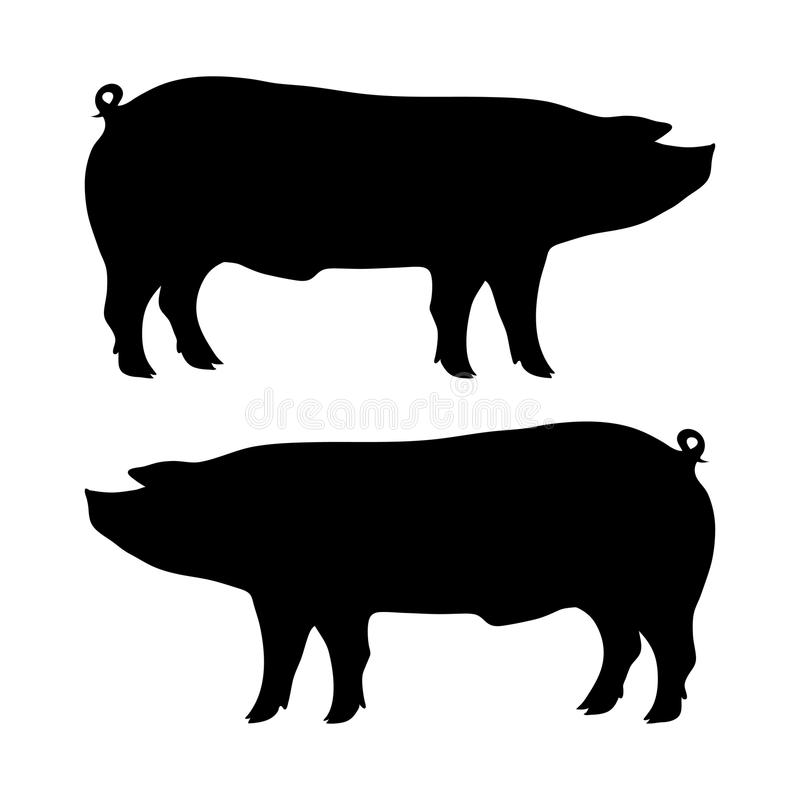 pig silhouette stock illustration illustration of picture
