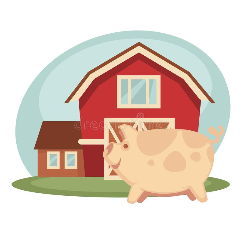 Download Pig Standing On Farm Stock Vector Illustration Of Piggery
