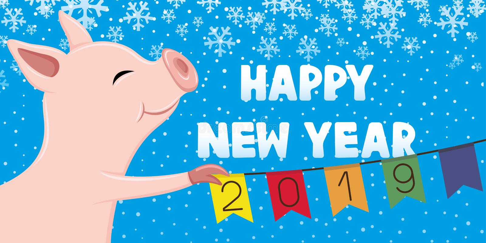 Pig symbol of the New Year. royalty free illustration