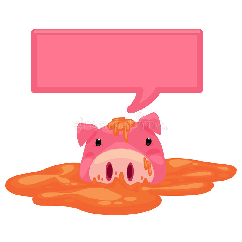 Pig Text Royalty Free Stock Photo