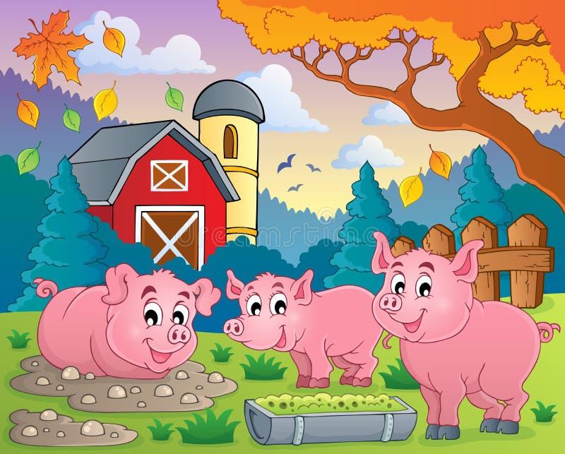 Pig theme image 2 royalty free illustration