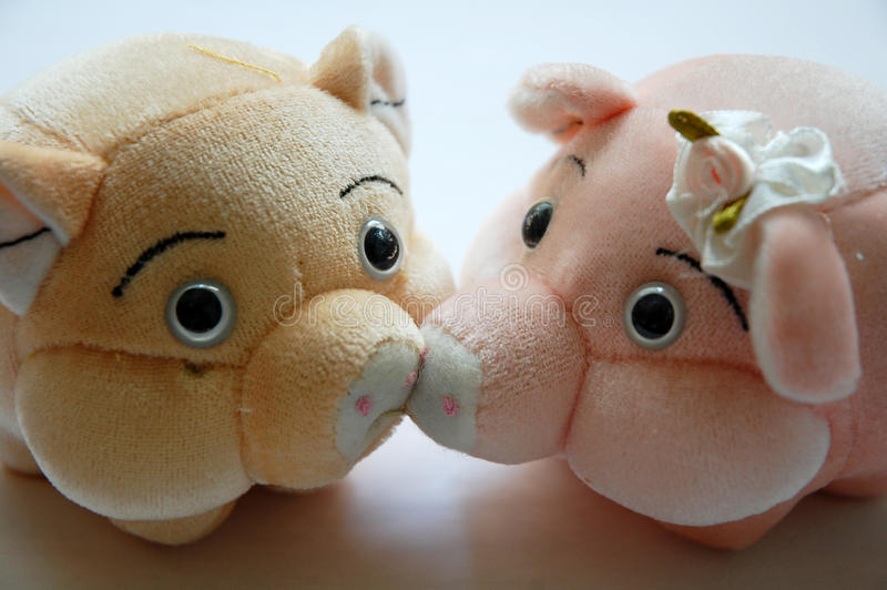 Pig toy stock photography