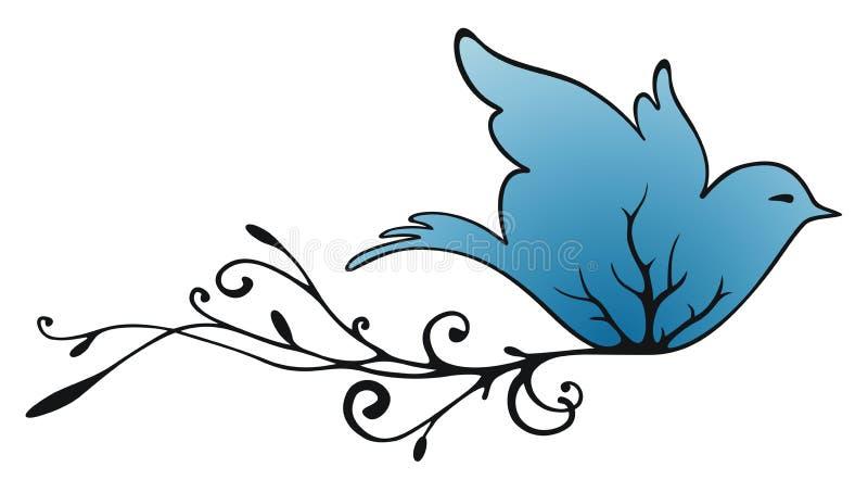 Pigeon de vol illustration stock