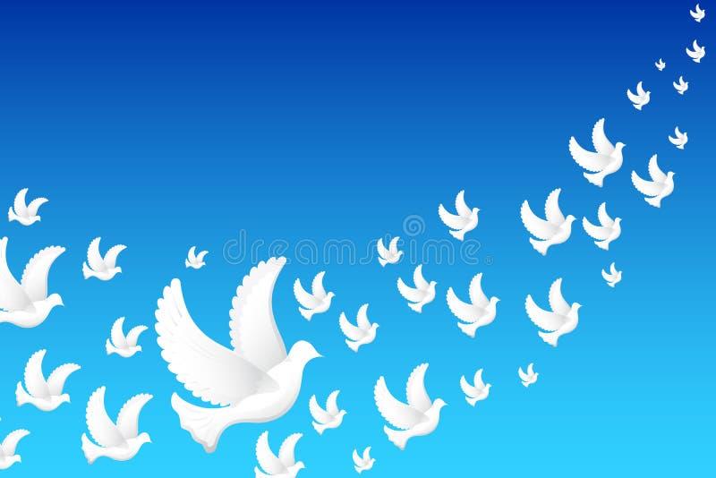 Pigeon de vol illustration libre de droits