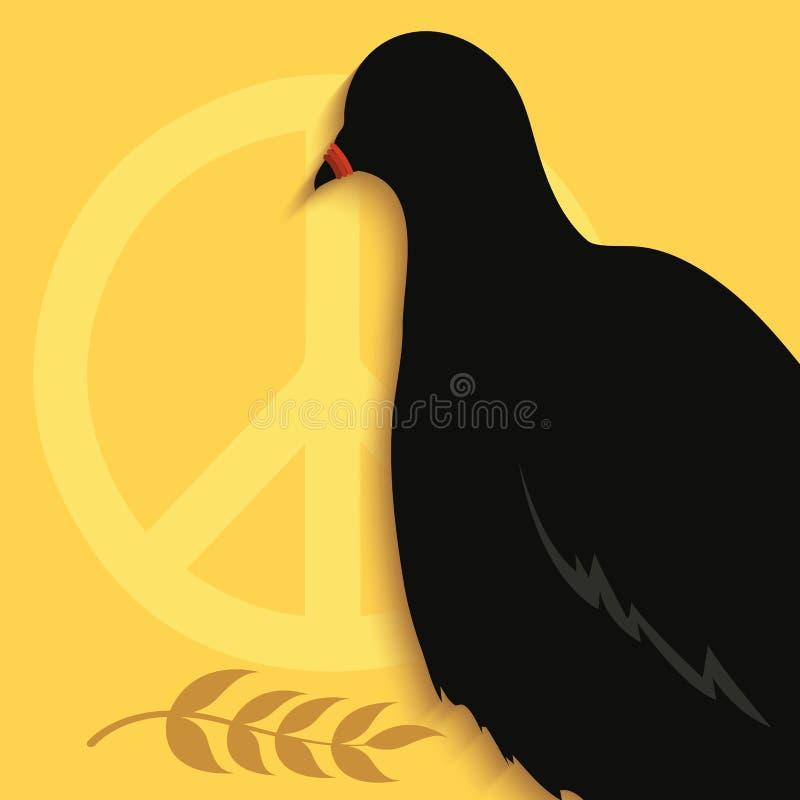 Pigeon fait taire illustration de vecteur