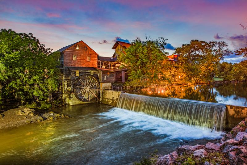 Pigeon Forge Tennessee TN Old Mill.  stock photos