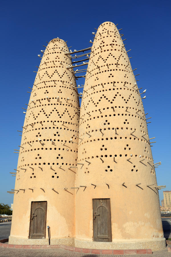 Pigeon houses in Qatar royalty free stock image