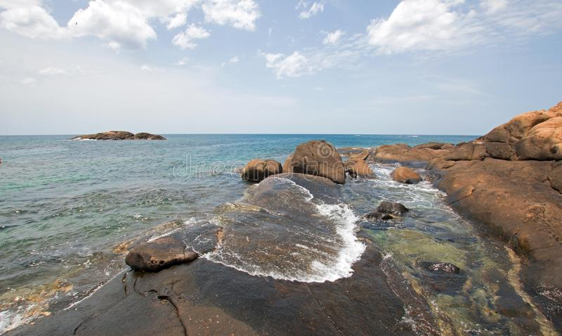 Pigeon Island National Park just off the shore of Nilaveli beach in Trincomalee Sri Lanka. Asia stock photography