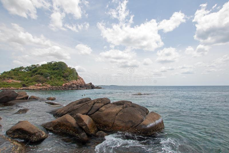 Pigeon Island National Park just off the shore of Nilaveli beach in Trincomalee Sri Lanka. Asia stock photo