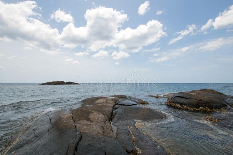 Pigeon Island National Park just off the shore of Nilaveli beach in Trincomalee Sri Lanka. Asia royalty free stock image