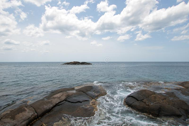 Pigeon Island National Park just off the shore of Nilaveli beach in Trincomalee Sri Lanka. Asia stock photos