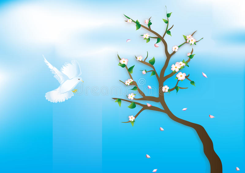 Download Pigeon messenger stock vector. Image of seasonal, spring - 13364514