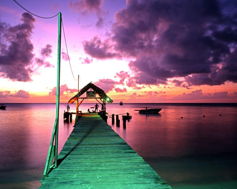 Pigeon Point jetty, Tobago. stock photography
