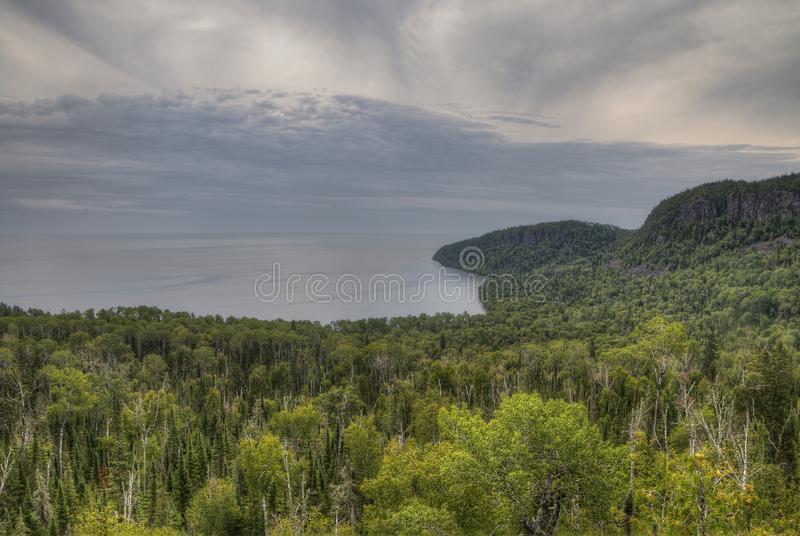 The Pigeon River flows through Grand Portage State Park and Indian Reservation. It is the Border between Ontario and Minnesota.  stock photography