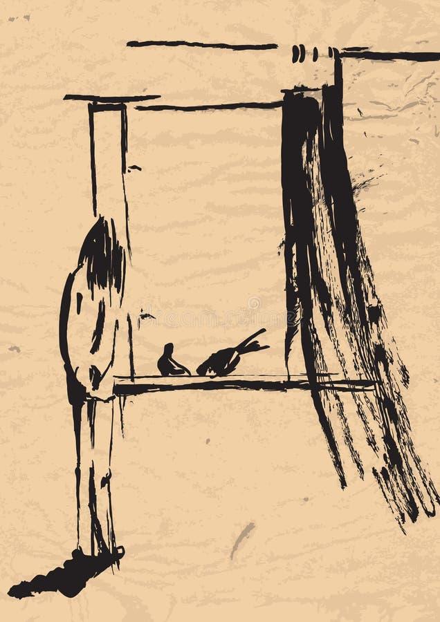 Download Pigeons stock vector. Image of arts, teenager, girl, blackened - 24563007