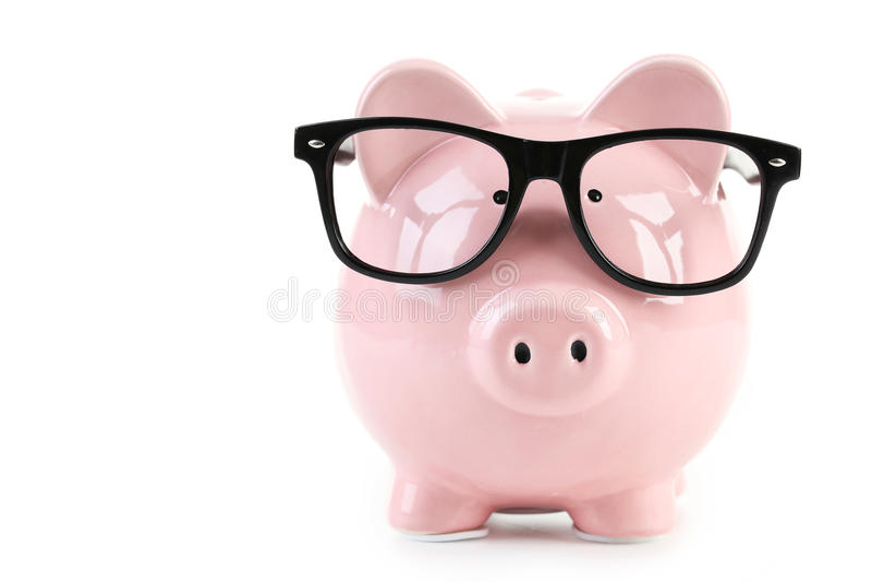 Piggibank rosado imágenes de archivo libres de regalías