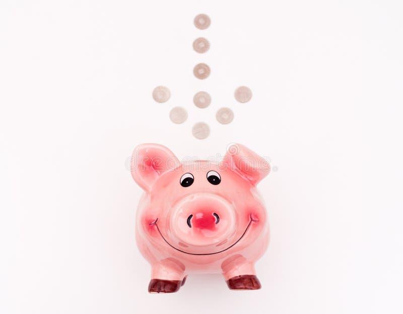 Piggibank rose image libre de droits
