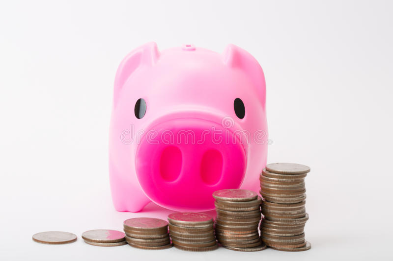 Download Piggibank rose image stock. Image du moneybox, dollar - 45371539