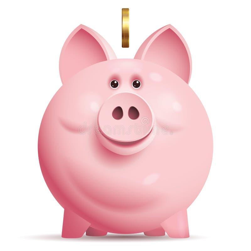 piggy διάνυσμα τραπεζών ελεύθερη απεικόνιση δικαιώματος