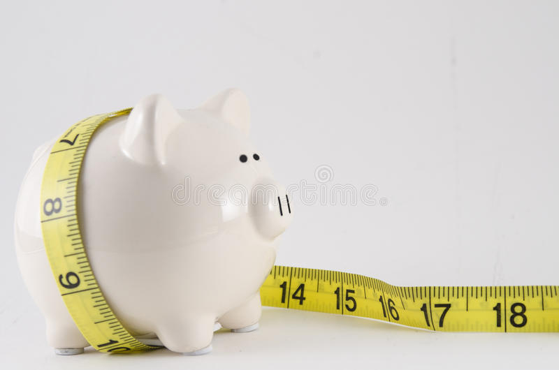 piggy ταινία μέτρου τραπεζών στοκ εικόνες