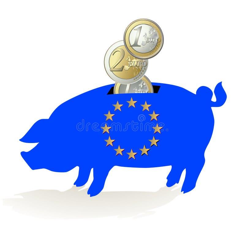 piggy банка европейское иллюстрация вектора