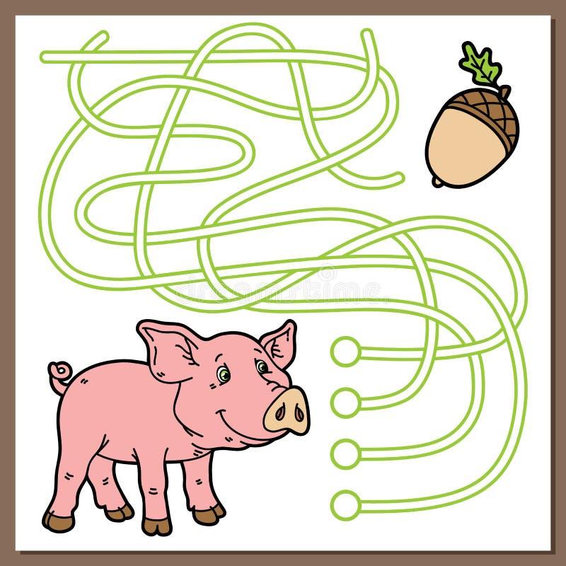 Piggy игра иллюстрация штока