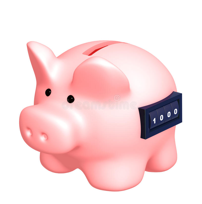 Download Piggy bank stock illustration. Illustration of dividend - 15016001