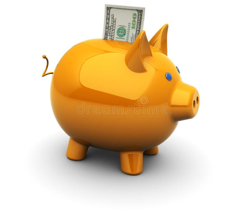 Download Piggy bank stock illustration. Image of savings, account - 17646577