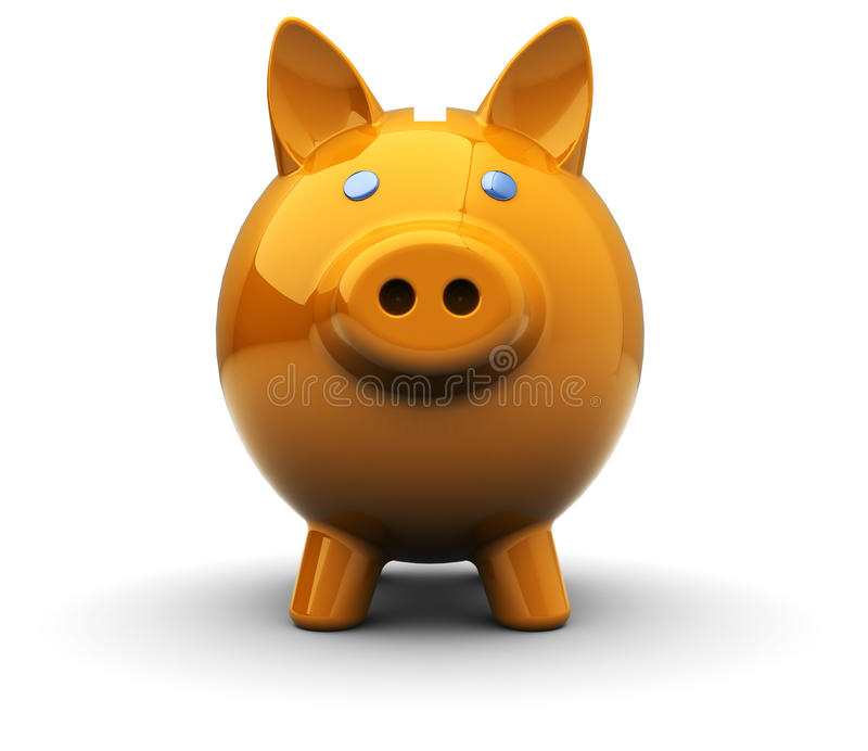 Download Piggy bank stock illustration. Illustration of face, piggy - 17646581