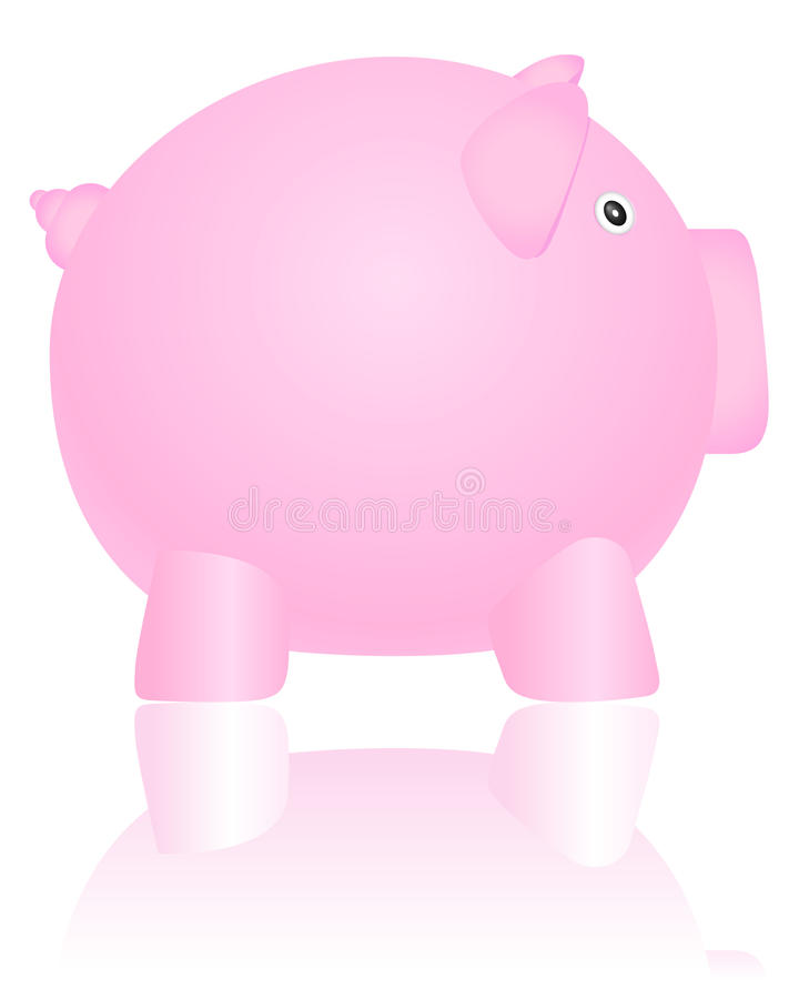 Download Piggy bank 2 stock vector. Illustration of object, element - 19540538