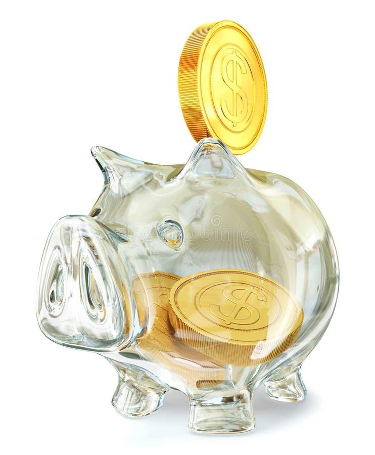 Download Piggy bank stock illustration. Illustration of growth - 20285746