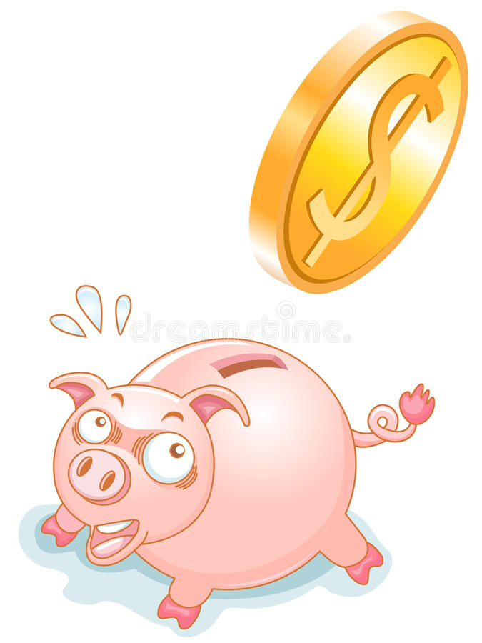 Download Piggy Bank stock vector. Image of banking, nature, gold - 22122245